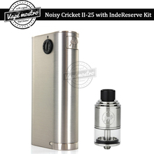 100% Original Wismec Noisy Cricket II-25 Mod with IndeReserve RTA tank kit mechanical box mod IndeReservce atomizer vape kit