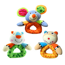 Baby Handbell Kids Infant Plush Handbells Toys Little Bear Mouse Tiger Shape Soft Plush Stuffed Animals Developmental Toys