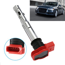 1 Pcs Car Ignition Coil Spark Plug Connector Red Ignition Nozzle For Audi A4 A5 A6 A7 A8 Q5 Q7 R8 06E905115E