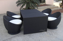 5 pcs Leisure Rattan Garden Dining Sets Patio For Home / Restaurant transport by sea(China)