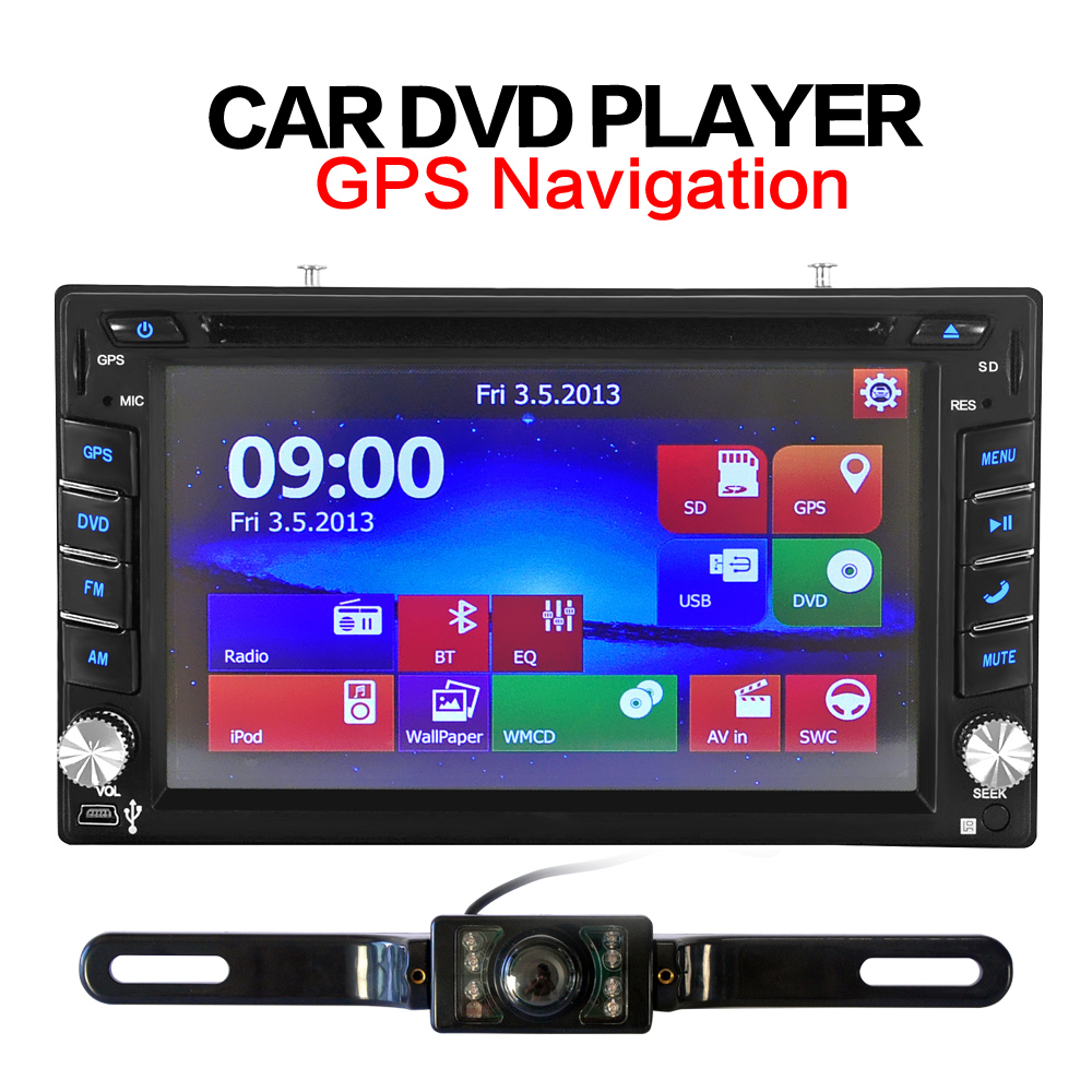2din New universal Car Radio Double 2 din Car CD DVD Player GPS Navigation In dash Car PC Stereo video Free Map Car Electronics(China)
