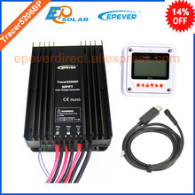 24v 20A 20amp Tracer5206BP solar panel controller 12v 24v auto work with MT50 meter and USB cable connect PC software