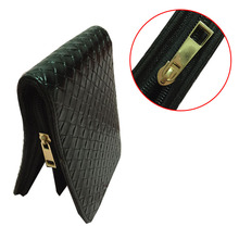 Fountain Pen Case Roller Pen Case Black knitting Leather Pen Case for 12 Pens