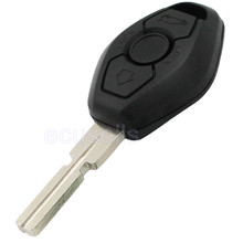 2 Pcs 3 Button Remote Key Case 4 Track for BMW 3 5 7 SERIES Z3 Z4 X3 X5 M5 325i E38 E39 E46 Uncut Shell HU58 (BackSide No Words)