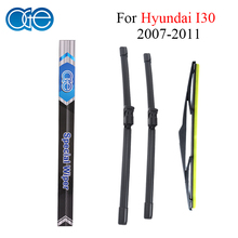 Oge Front And Rear Wiper Blades For Hyundai I30 2007 2008 2009 2010 2011 Windscreen Natural Rubber Car Accessories(China)