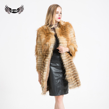 BFFUR Winter Coats Real Fur Fox Fur Coat Shop Real Fur Jacket Breast Expansion Fox Fur Vest 2017 New Arrival BF-C0300