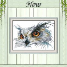 The Owl,Counted Printed on canvas DMC 11CT 14CT Cross Stitch kits,Needlework Set hand made DIY embroidery,animal Home Decoration