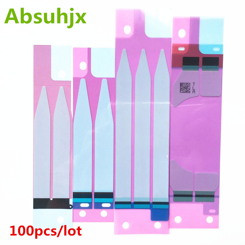 Absuhjx 100pcs Battery Sticker for iPhone 6 6S Plus 7 7P 3M Adhesive Double Tape Pull Trip Grue for iPhone 8 X 8P 5S 5C title=