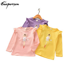 GOOPORSON Girls Shirt Long Sleeve Solid Bay Girl's Autumn Outfits Shirts Ballet Girl Fashion Shirts Tops Kids Clothing(China)