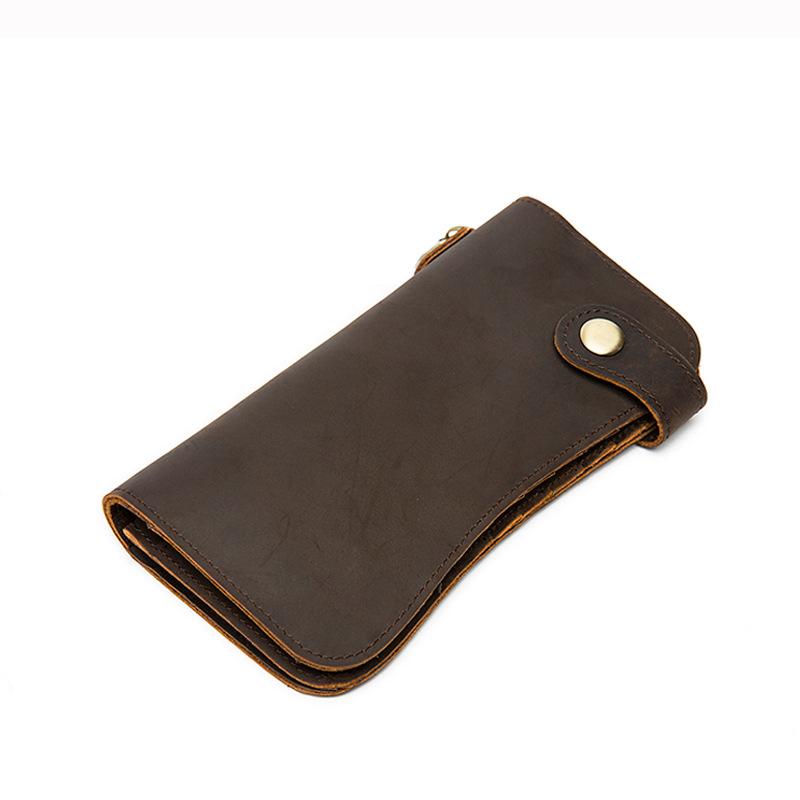 chain leather men wallets (7)