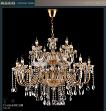 Free Shipping 18 Arms Crystal Chandelier Lighting with Large Size and 3 Year Warranty (B CCLDLDJK1301-12+6)