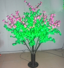 480 LEDs Cherry Tree Home garden Wedding Holiday Christmas Decor Pink Flower+Green Leaf 5ft/1.5m Height