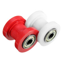 New Motorcycle motorbike 8mm red White Chain Roller Tensioner Pulley wheel guide 125 XR CRF 50 KLX110 Thumpstar