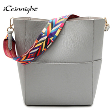 Buy iCeinnight Big Bucket Women Shoulder Bags High Pu Leather handbag Casual Tote Luxury Shopping bag Beautiful elegant bag for $17.87 in AliExpress store