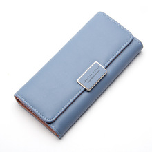 3 Fold Top Quality Lovely Leather Long Women Wallet Girls Change Clasp Purse Female Money Coin Card Holders Wallets Carteras