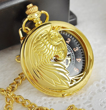 20pcs/lot DHL Gold Vintage New Fashion Men Skeleton Pocket Watch Hand Wind Mechanical Watches With Chain Necklace