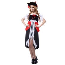 Shanghai Story Saucy Wench Pirate cosplay Costume Sexy pirate costumes adult women maid clothing(China)