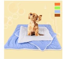 PETFANGFANG Cats And Dogs Will Be Warm In Winter Folding Pet Breathable Coral Velvet Soft Sleeping Mat Sweet Dream Bed 4 Size(China)