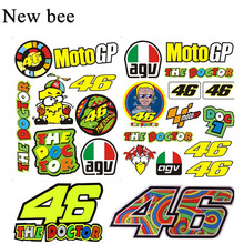 Newbee The Doctor Helmet Decal Valentino Rossi Motorcycle Sticker 46 VR46 for Yamaha Skate Snowboard Motocross Luggage Laptop(China)