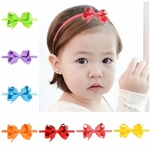 20pcs/ lot  Elastics Hair Headbands bow-knot Ribbon Bows Headband Accessories Hair Wrap Hairband Headwear 725