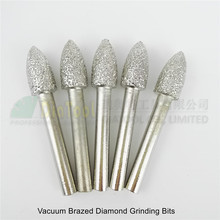5pcs #11 Vacuum brazed diamond Grinding head rotary engraving bits mounted points 6mm shank