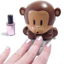Hot Cute Monkey Girls Manicure Pedicure Nail Polish Blower Dryer Play Beauty Salon