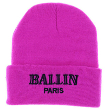 1 PC Retail Gorro Women's Winter Skull Cap Touca Daily Hat Beanie Pink White Black In Stock