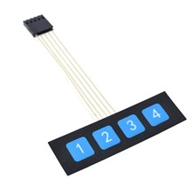10PCS 1x4 4 Key Matrix Membrane Switch Keypad Keyboard Control Panel SCM Extended Keyboard Super Slim for Arduino