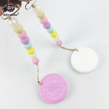 Let's Make Pacifier Clip Silicone Beads Safe For New Mommy Safe Baby Accessories Cookie Baby Teether