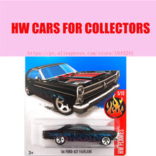 Toy cars 2016 Hot 1:64 car Wheels 66th Ford 427 fairlalne car Models Metal Diecast Car Collection Kids Toys Vehicle For Children(China)