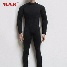 "NEW 1/6 Scale Black Slim tight stretch leotard Male Cloths For 12"" Action Figure Model Toys(China)"