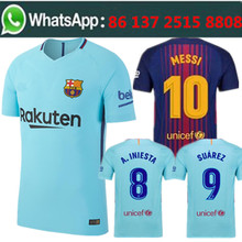 Free shipping camisetas de futbol 521 Barcelonaing men messi Soccer jersey best quality 2017 2018 football jersey(China)