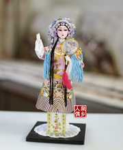 Decoration Arts crafts girl gifts get married The old Peking Opera silk crafts of Beijing characteristics Chinese people doll Ho
