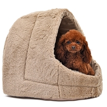 High Quality Pet Kennel 4 Colors Soft Outward Good Shape Dog Bed Cat Puppy Kennel Small Medium Dog Bed Luxury(China)