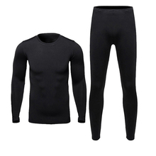 New Men Fleece Thermal Outdoor Sport Underwear Motorcycle Skiing Winter Warm Base Layers Tight Long Johns Tops & Pants Set(China)