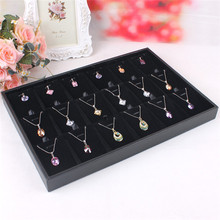 24*35cm Fashion Popular Black Pendant Jewelry Display Box Ring Earring Showcase Storage Case Organizer(China)