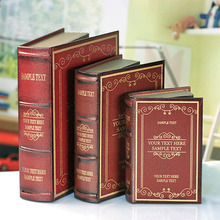 3PC book  of multifunctional decorative ornaments jewelry Home Furnishing    box set 01035-4H bookcase simulation wall dies