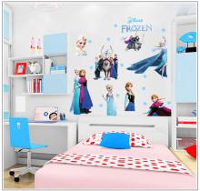 Cartoon Movie Frozen Wall Sticker Best Wall Decorates For Girls Room DIY Anime Poster Queen Princess Vinyl Art