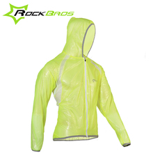 RockBros Compression Waterproof Cycling Rain Jacket Raincoat Men and Women UV Protect Breathable Bike Jacket Bicycle Jacket