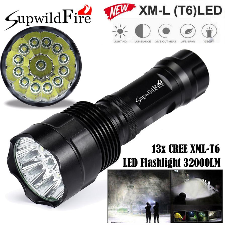 2017 NEW Super Bright 32000Lm 13x XM-L T6 LED 5-Mode 18650 Flashlight Torch Light Lamp S911<br>