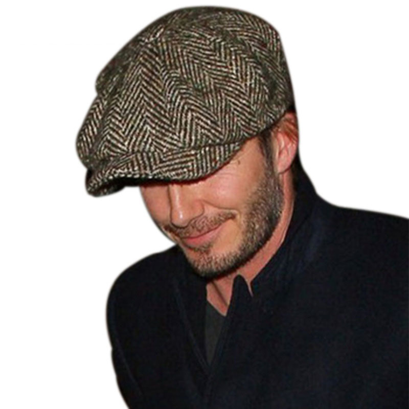 Coolcheer Winter Hats Models-Caps Newsboy-Beret-Hat Jason Statham Superstar Male Men's title=