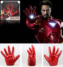 1:1 Cosplay The Avengers 2 Iron man Mark 3 LED light Gloves luminous Action Figure Toy model costume party Adult child prop gift