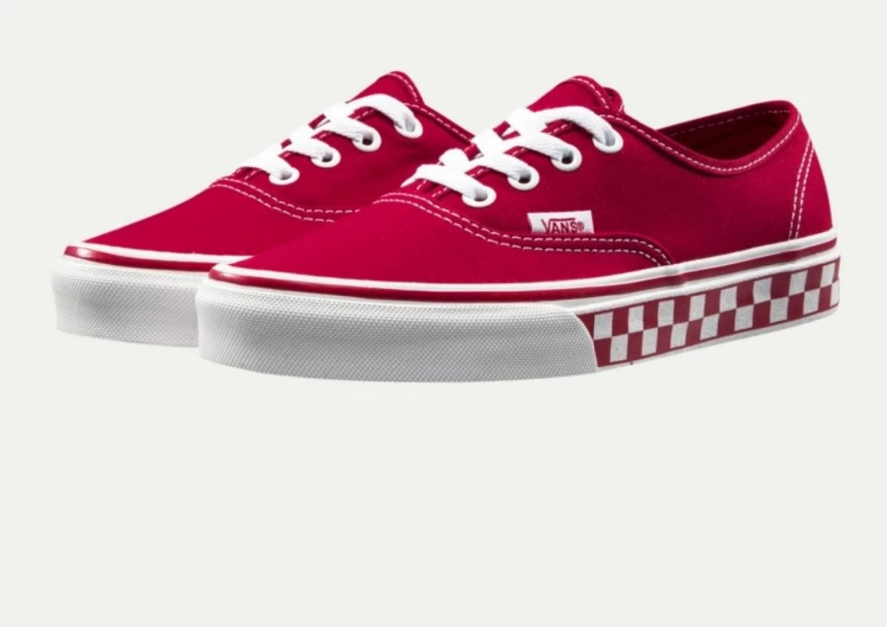 red vans authentic checkerboard