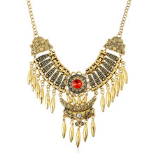 Boutique Jewelry For Women Gold silver Plated National vintage necklace Party Accessories Collier Femme Necklaces Wholesale(China)