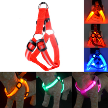 Pet Cat Dog Collar Harness Vest Nylon LED Dog Harness High Quality Safety Lighted Dog Harness Small / Big / Large Size Wholesale