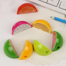 3PCS Watermelon And Dragon Fruit Pencil Sharpener Fruit Plastic Pencil Sharpener Stationery Supplies