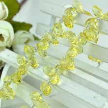 Manufacturers Selling Yellow Crtstal Loose Spacer Beads Fancy jewelry Craft Curtain Light DIY Making 500pcs 6*12mm(China)