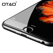 OTAO For iPhone 6S Plus 5C 5S SE 4S Tempered Glass Screen Protector Film 0.33mm Case Cover 9H HD Toughened Protective Guard(China)