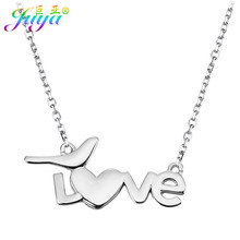 Women Fashion Chocker Necklace Letter Love Canary Connector Pendant Women Fashion New Year's Gift Love Necklace(China)
