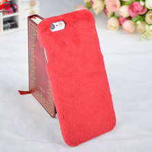 For Apple iPhone 6 6S Case 4.7'' Plush Fluffy Protective Soft TPU Back Cover for iPhone6 6 S Winter Design Warm Fur Phone Cases